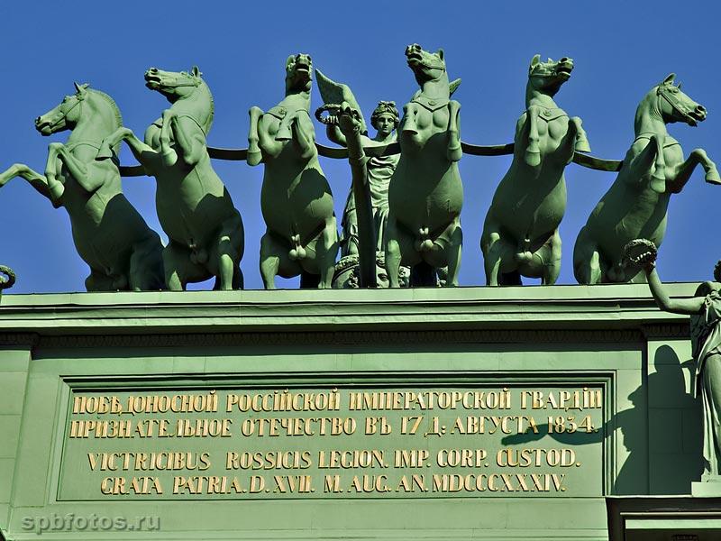 Колесница Нарвских ворот. Фото Петербурга